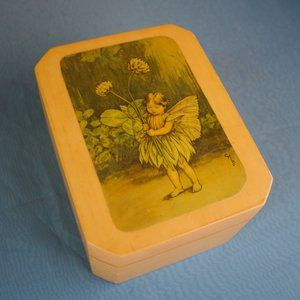 Vintage Storage & Organization - Cicely Mary Barker: Fairy Jewelry Wooden Box